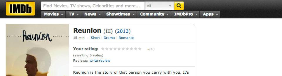 REUNION on IMDb